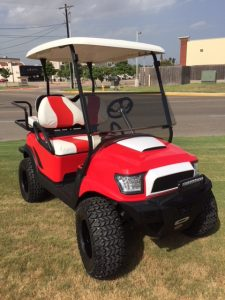 Red alpha club car